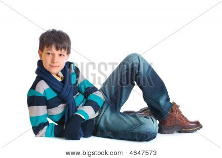 Boy In Wintry Clothing