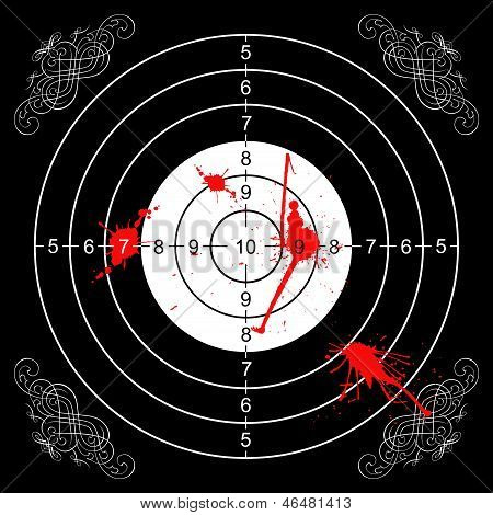 Bloody Gothic Wall Target