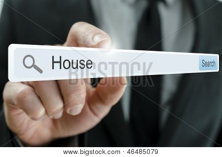 Word House Written In Search Bar