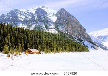 Snowy mountain countryside