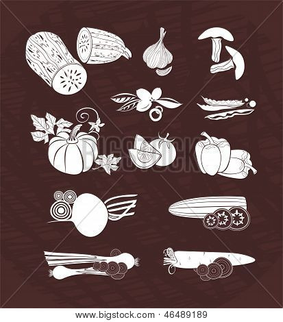 vector design set - vegetables