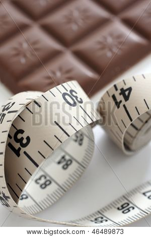 Tape Measure And Chocolate Bar