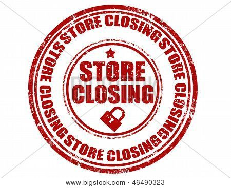 Store Closing-stamp