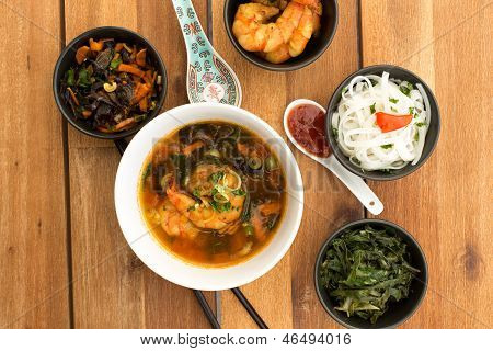 Asian Vegetarian Composition Of Food