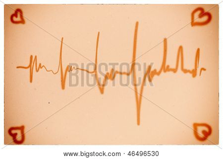 Electrocardiogram Orange Background