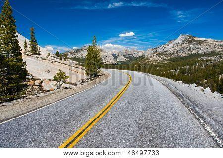 Tioga Pass Road in Yosemite National Park,California