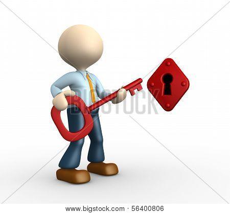 Key And A Keyhole