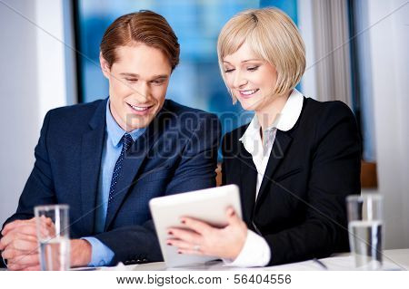 Business Executives Discussing At Office