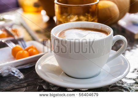 Hot Coffee And Sweetmeat