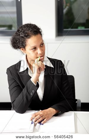 Serious African American Businesswoman