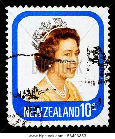 Post Stamp From New Zealand