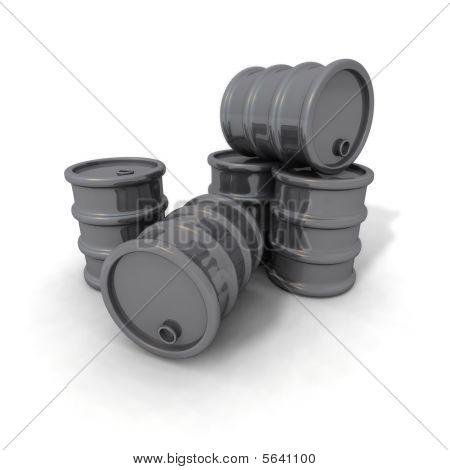 Barriles gris
