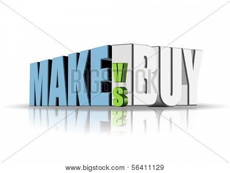 An illustration of make versus buy concept