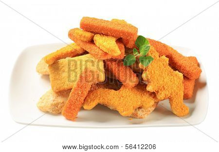 Convenience food - Breaded fish fingers and nuggets