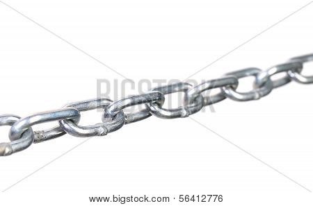 Fragment of links a chain close up