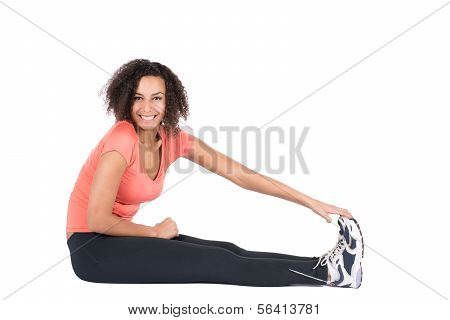 poster of Young Woman Stretches Her Musculature