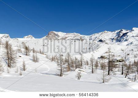 Moräne um Lago Blu, Ayas-Tal (Norditalien)