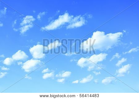 Spring sky with clouds, may bu used as background