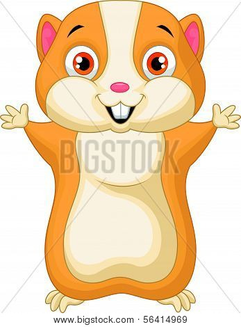 Cute hamster cartoon