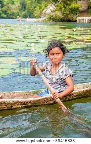 Little girl in a Boat