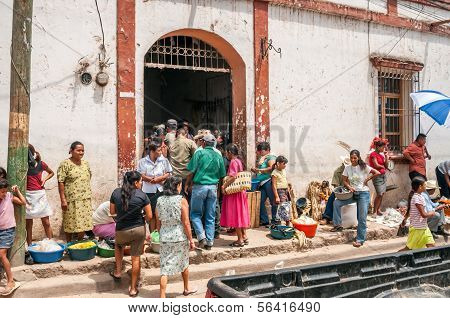 Entrance to market in Copan