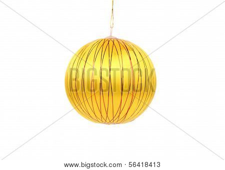 Yellow dull christmas ball.