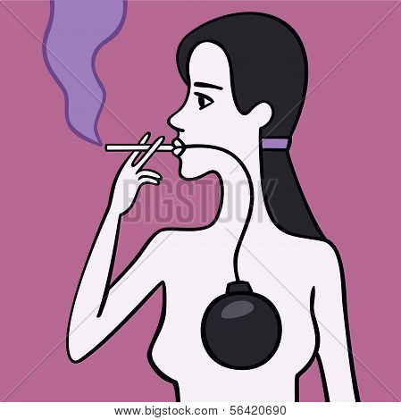 Woman smoker.