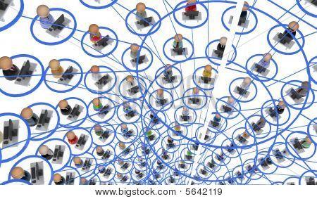 Cartoon Crowd, Network Shaft