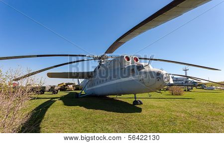 Togliatti, Russia - May 2, 2013: The Heavy Russian Military Transport Helicopter Mi-6 In Togliatti T
