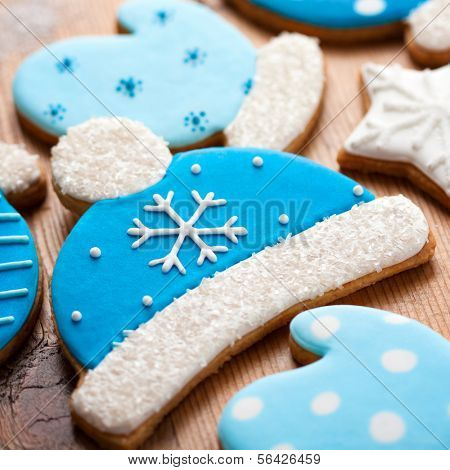 Cookies with a winter theme