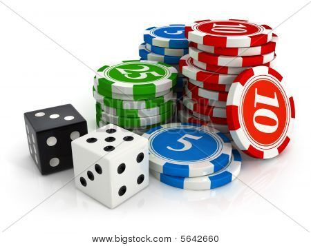 Chips And Dice Game From Casino