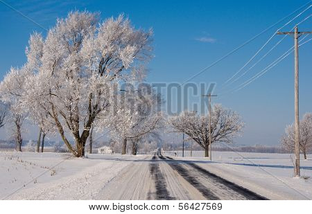 Winter Rural Road