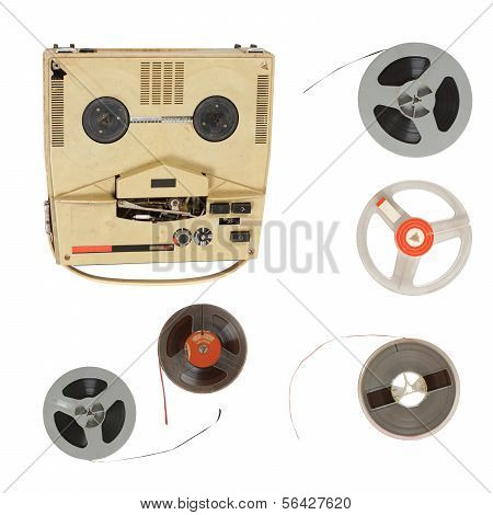 Vintage recorder and magnetic tape