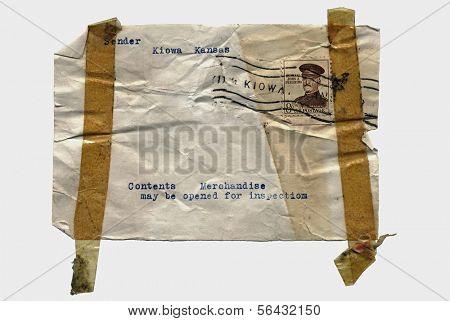 Vintage Package Label