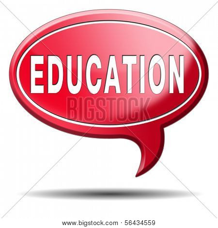 education learn and study to gather knowledge and wisdom education button education icon building knowledge button with text and word concept