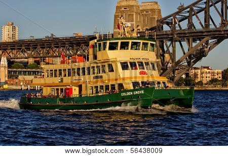Sydney Ferry and Harbour Bridge