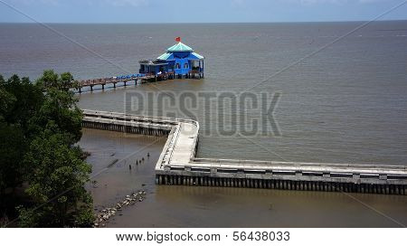Ca Mau Cape Tourist Area With  Long, Solid Mole