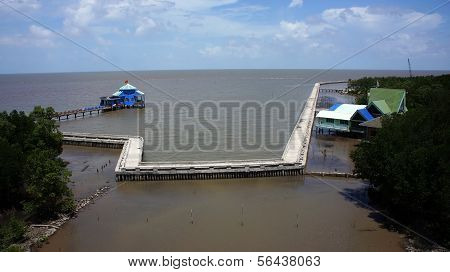 Dat Mui Tourist Area With  Long, Solid Breakwater