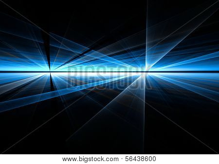 Abstract rays futuristic blue background texture