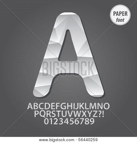 Abstract Paper Alphabet And Digit Vector