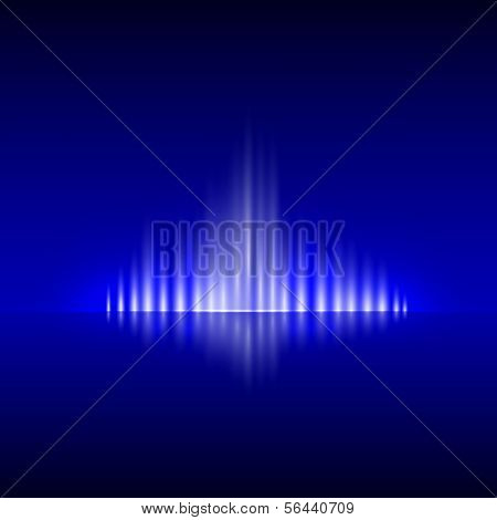 Vector abstract dark blue background with flame