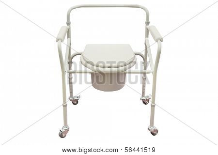 Invalid toilet isolated under the white background