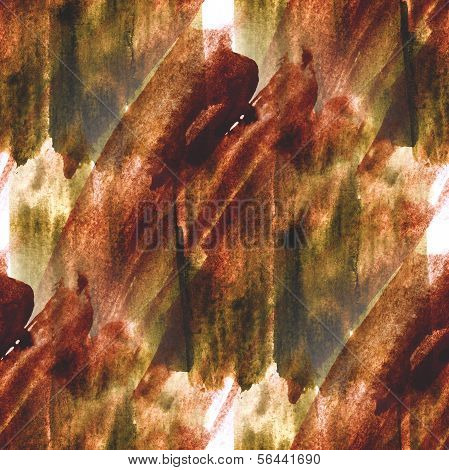 art green, brown hand paint background seamless watercolor  wall