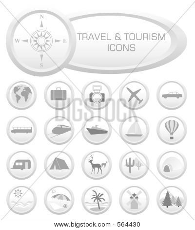 Travel And Tourism Icons - Vector Illustration