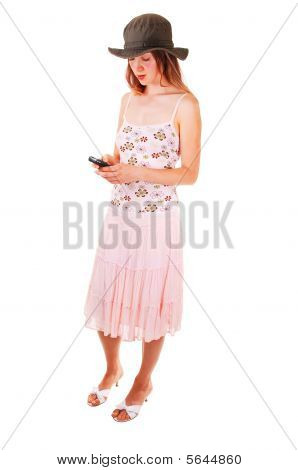 Woman Dialing On The Phone