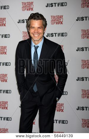 LOS ANGELES - JAN 6:  Timothy Olyphant at the