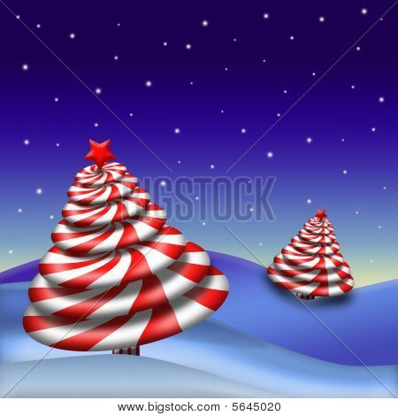 Peppermint Candy Christmas Tree