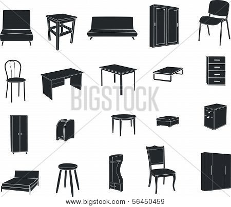 Furniture isolated on a white background
