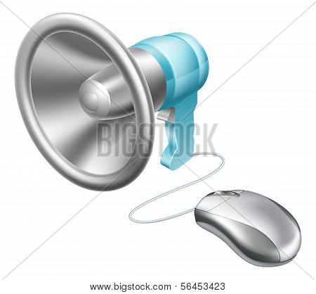 Megaphon-Mouse-Konzept