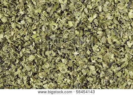 Background of dried  of sea lettuce  seaweed (Ulva lactucas). One of the most familiar of shallow salt water seaweeds, sea lettuce is very high in iron, protein, iodine, manganese, and nickel.